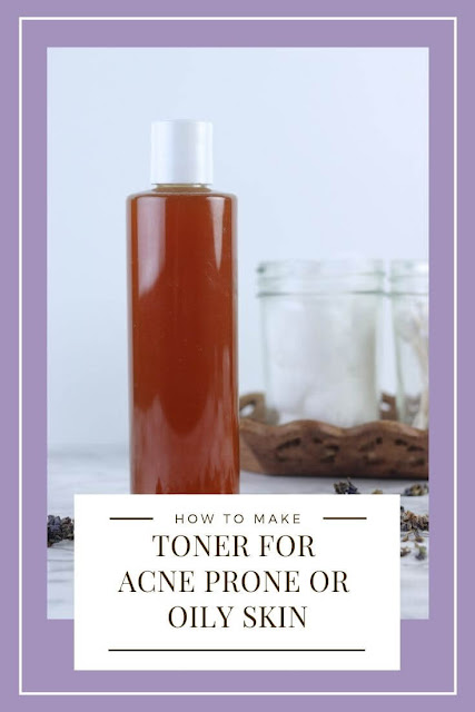 How to make a DIY toner for face at home. This awesome recipe is great for acne, for oily skin, and to shrink pores. Make this simple easy skincare recipe for redness too. It has the best ingredients like lilac infused witch hazel, apple cider vinegar, acv, and essential oils. Use in a bottle or make a spray for this homemade toner recipe.  #toner #essentialoils #witchhazel #acv