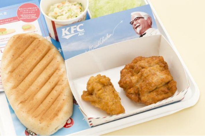 Kentucky Fried Chicken Meal: Around The World: KFC Now Offered On Japan Airlines