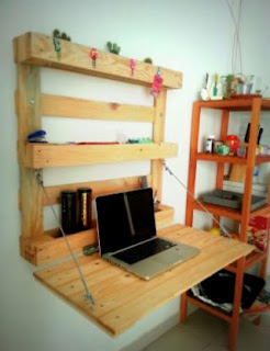 escritorio plegable con palets