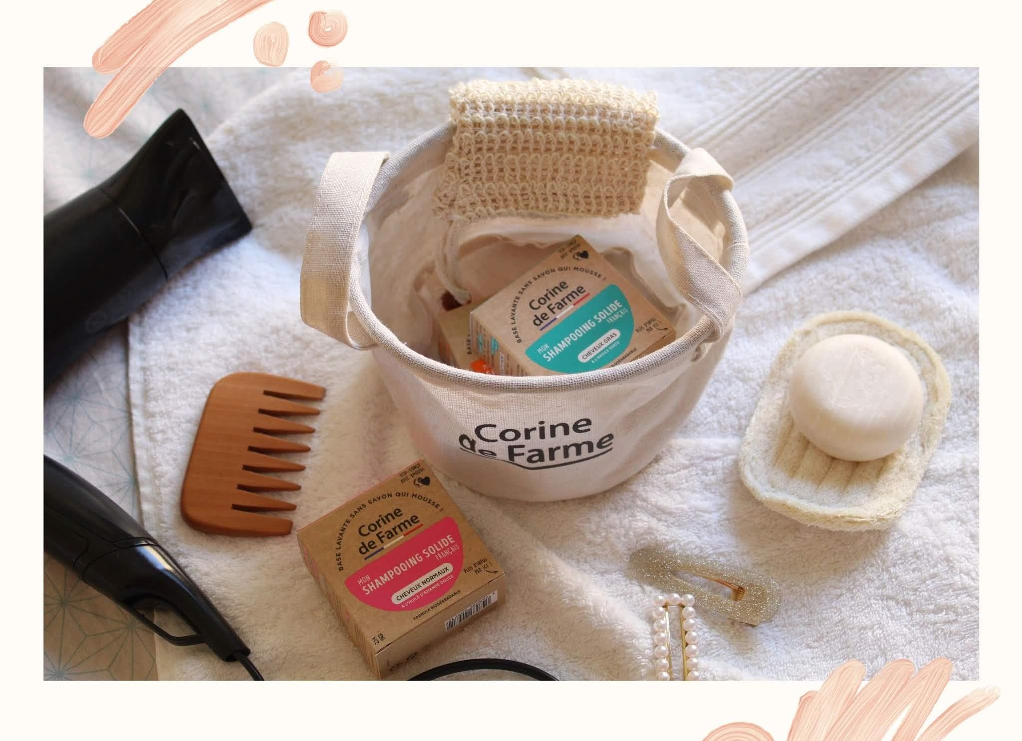 Présentation des shampoings solides Corine de Farme