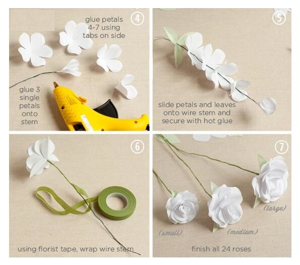 diy paper flower bouquet wedding