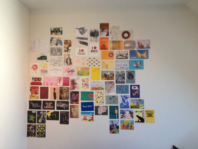 Hiasan Dinding Kreatif dari postcard