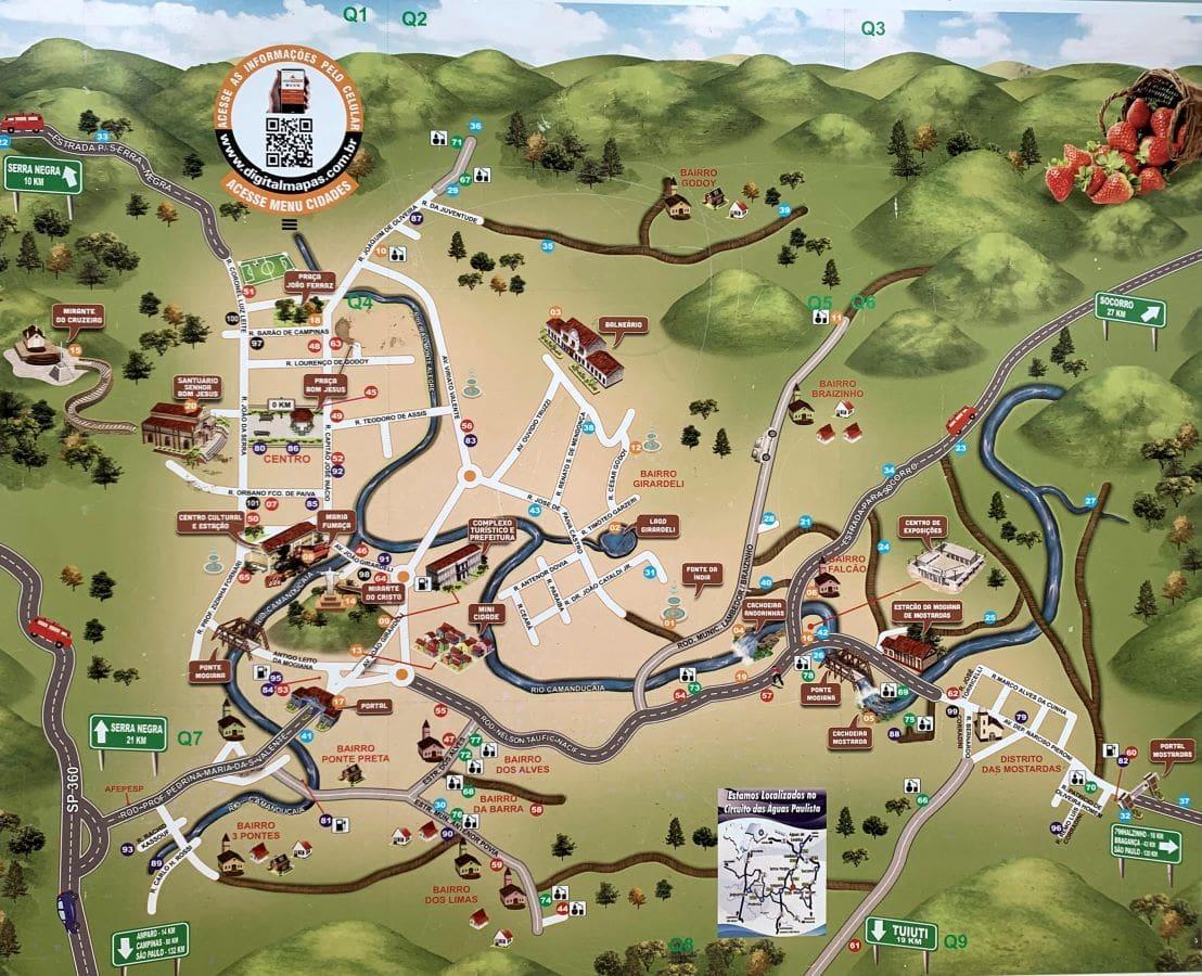 mapa turístico de monte alegre do sul