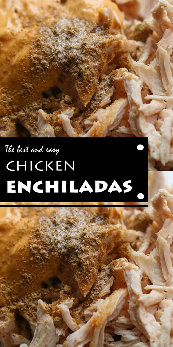 The best and easy chicken enchiladas