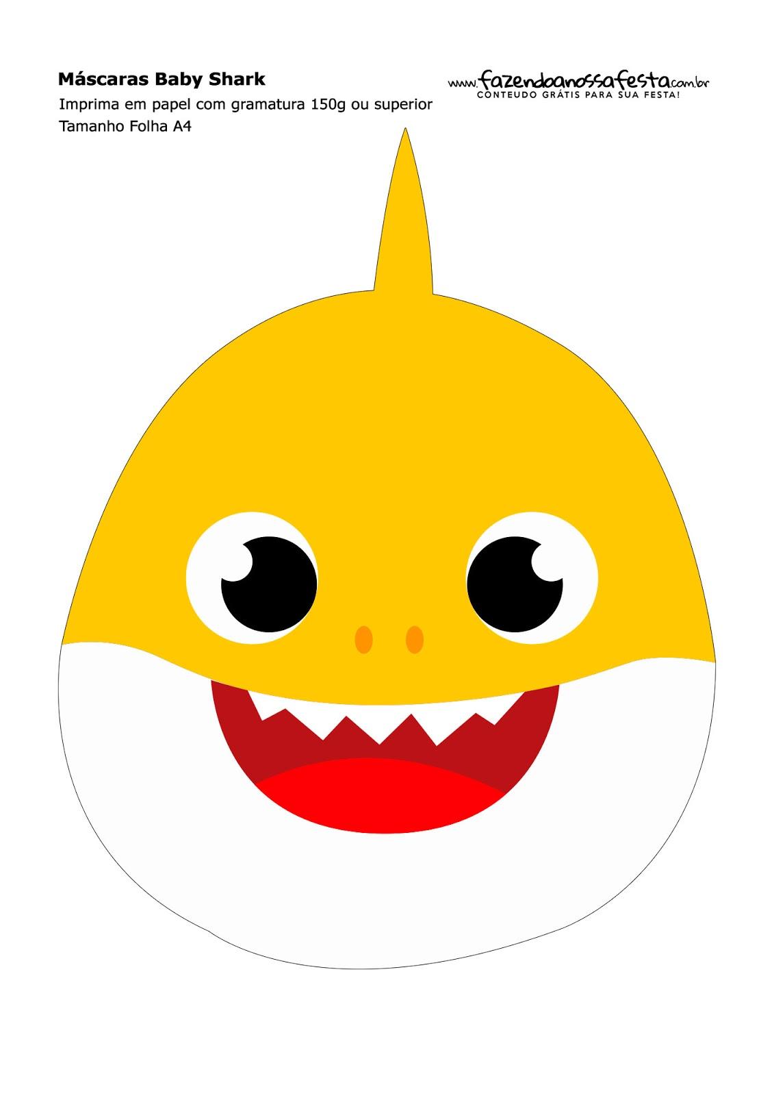 Baby Shark Máscaras Para Imprimir Gratis Oh My Bebé