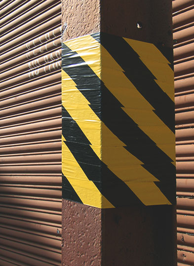 urban photography, urban photo, hazard tape, Sam Freek, industrial, art,