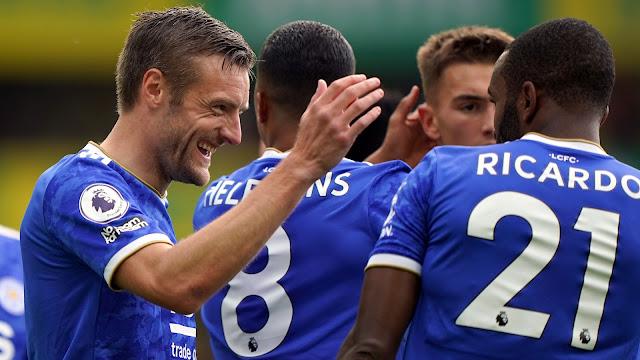 اهداف مباراة ليستر سيتي ونورويتش سيتي (2-1) الدوري الانجليزي