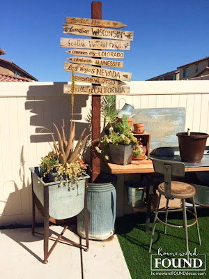 #MAYkeovers, DIY, diy decorating, junk makeover, salvaged, salvaged wood, outdoors, spring, summer, tiki style, weekend makeover, backyard decor, home decor, rustic decor, industrial decor, farmhouse style