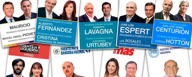 Elecciones 2019 : Mirá las boletas de los principales candidatos en Argentina