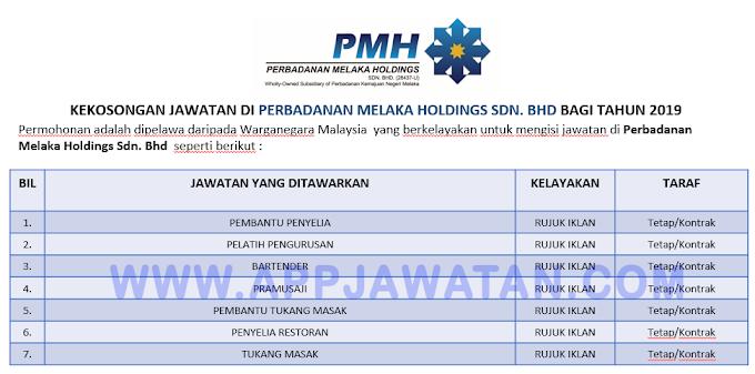 Jawatan Kosong Terkini di Perbadanan Melaka Holdings Sdn. Bhd.