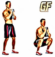 variasi gerakan squat weighted