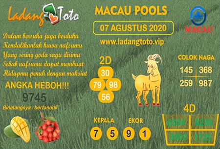 Prediksi Ladang Toto Macau Pools Jumat 07 Agustus 2020