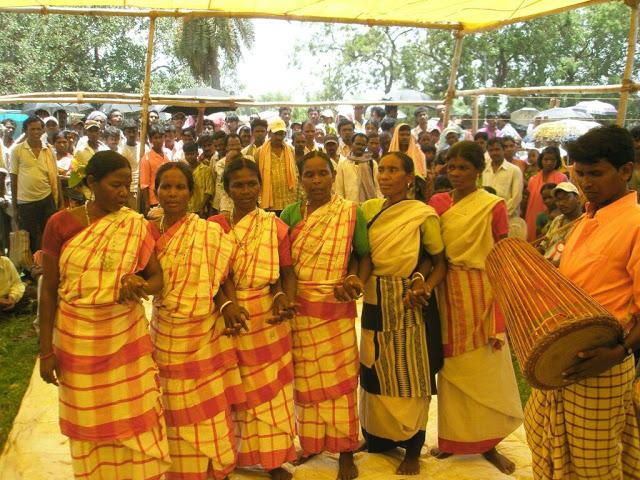 Traditional santali dance