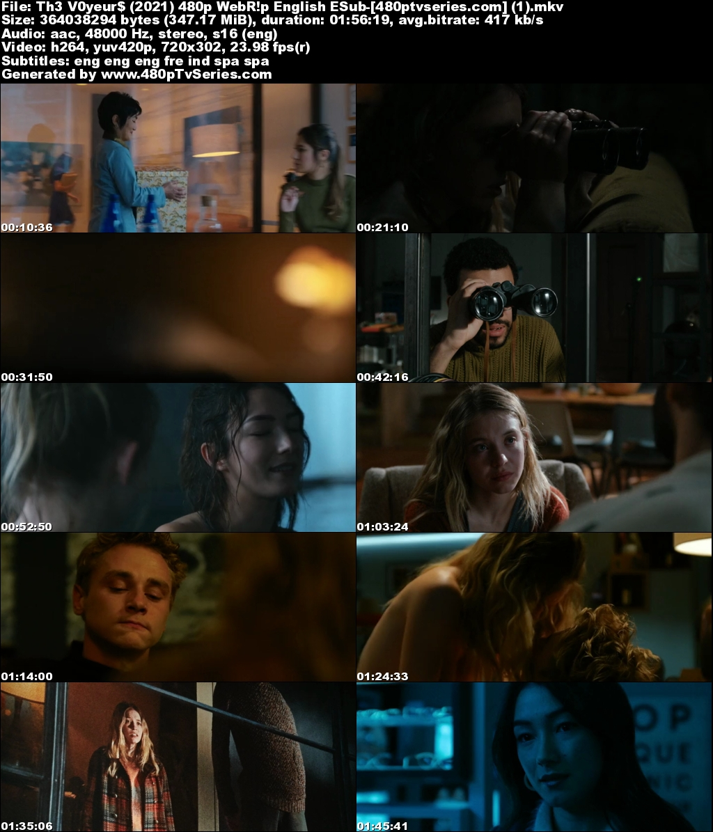 The Voyeurs (2021) 350MB Full English Download 480p Web-DL Free Watch Online Full Movie Download Worldfree4u 9xmovies
