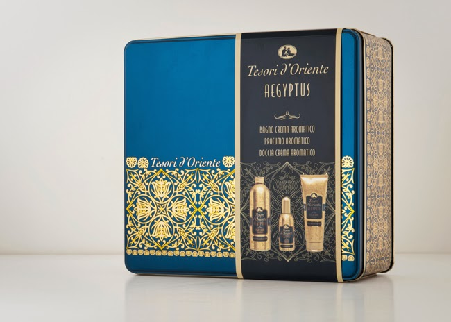 tesori doriente gift sets on packaging of the world