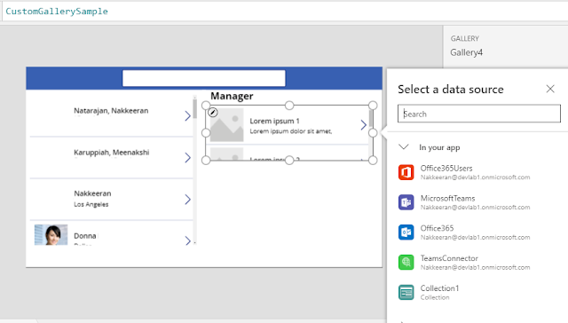Configure Manager Section on PowerApps - linked to user list