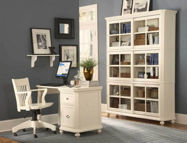 best buy white traditional office furniture sets for sale