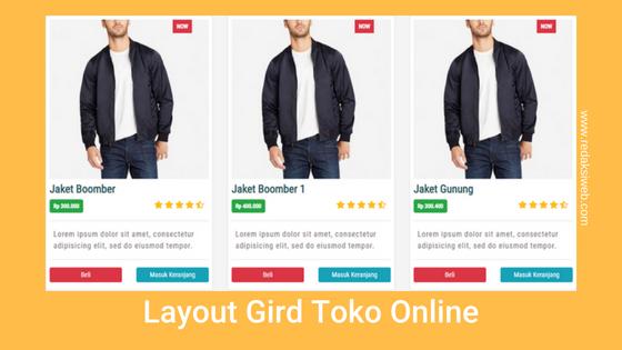 Membuat Grid Toko Online Dengan Bootstrap 4