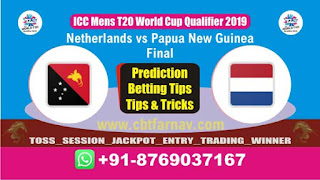 WC T20 Qualifier PNG vs NED Final Match Prediction Today T20 World Cup Qualifier