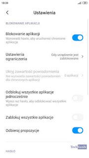 Blokowanie Aplikacji Ustawienia