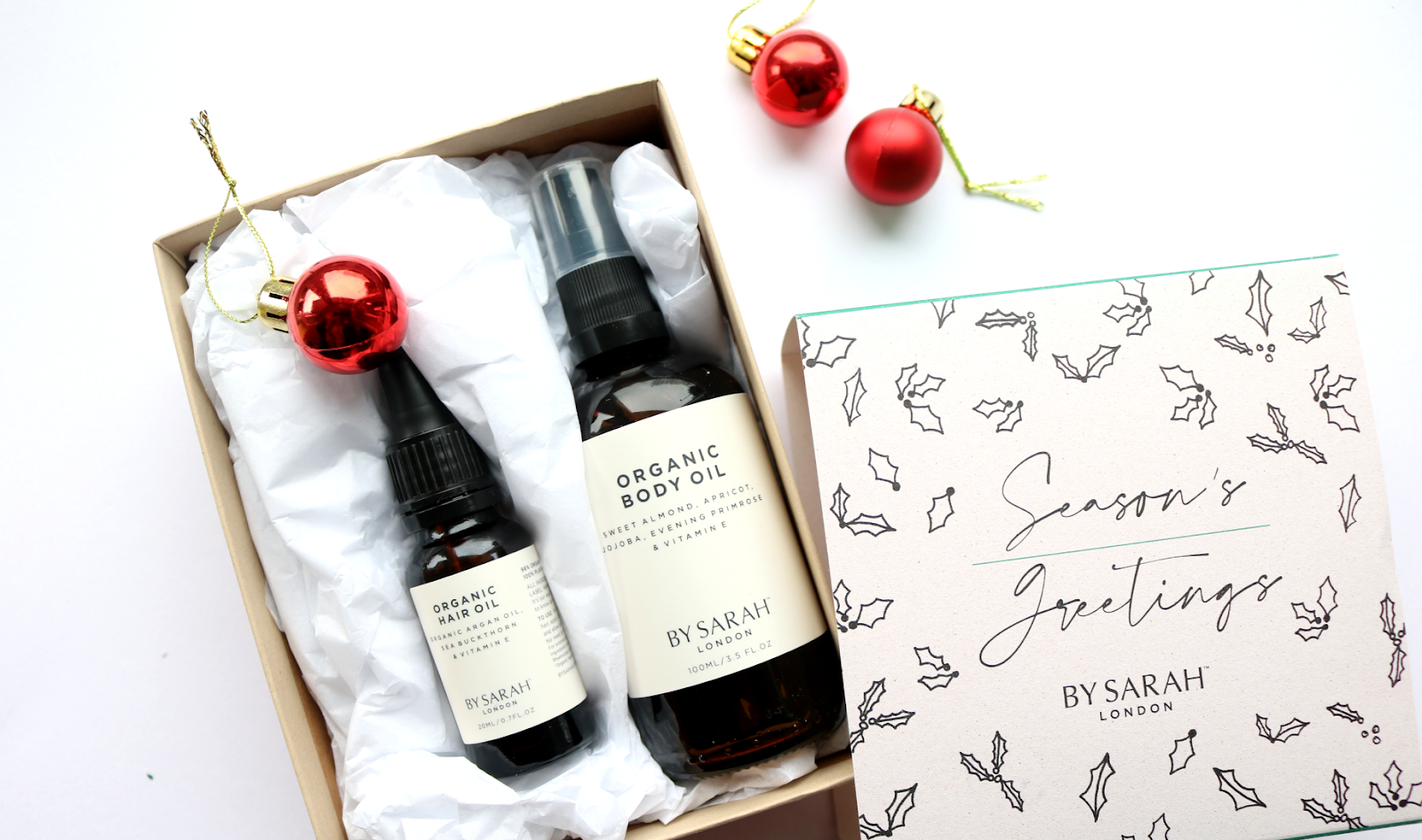 By Sarah London Seasons Greetings Organic Body & Hair Gift Set
