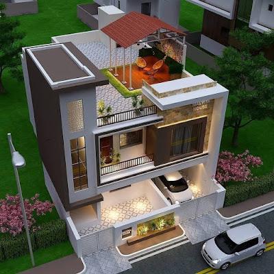 contoh gambar rumah dua lantai yang bikin betah