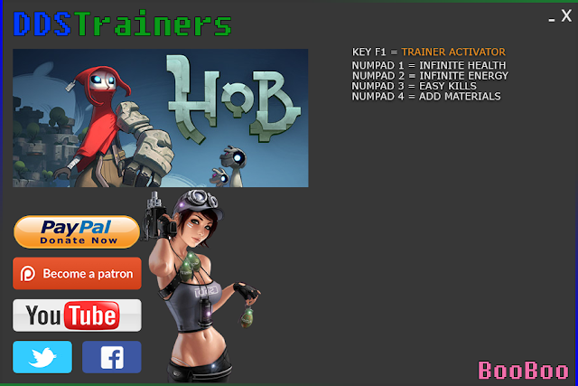 Hob Trainers and Cheats for PC