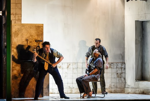 John Mark Ainsley, Iestyn Davies, Richard Burkhard: Handel Rodelinda: ENO: Photo Clive Barda