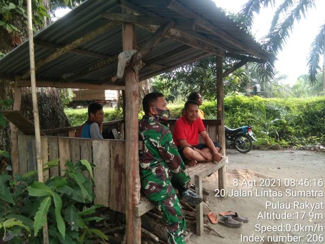 Berperan Cegah Masyarakat Terkena Covid-19, Personel Jajaran Kodim 0208/Asahan Himbau Untuk Terapkan Protokol Kesehatan