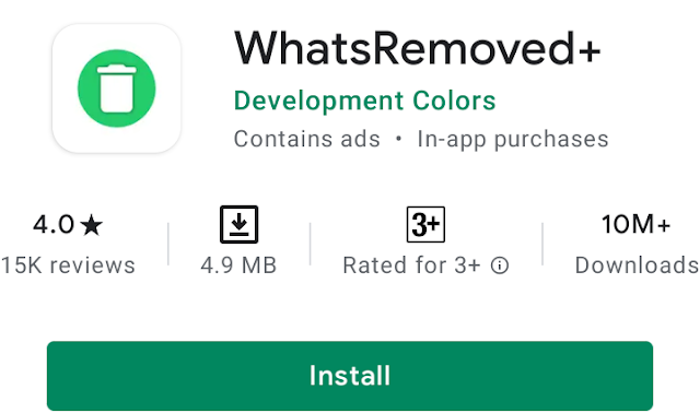 WhatsRemoved+ read whatsapp deleted messege