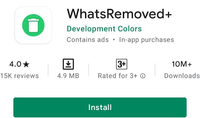 WhatsRemoved+ read whatsapp deleted messege