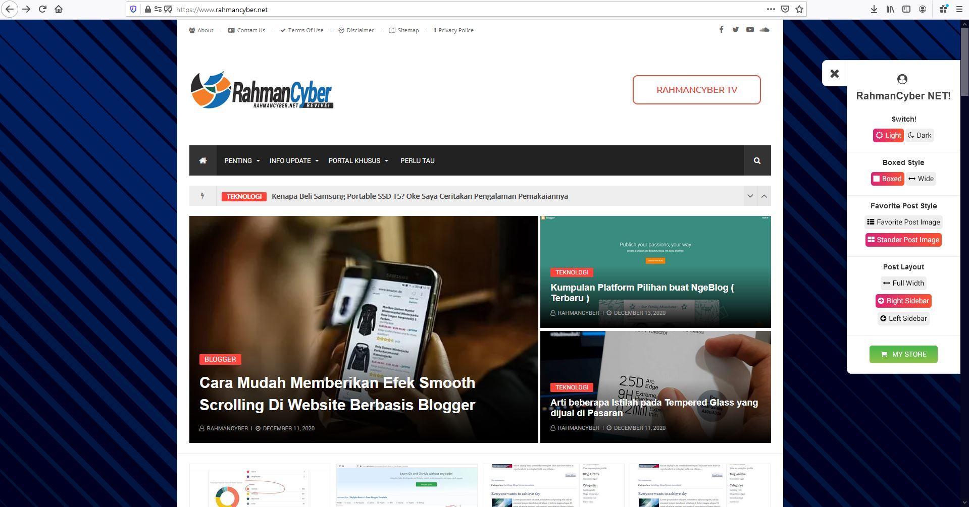 Website RahmanCyber NET Terbaru