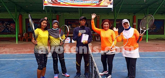 Umi Zulaikah dan AKBP Dewi Indarwati Maju ke Final Turnamen Tenis Muzukha Ceria