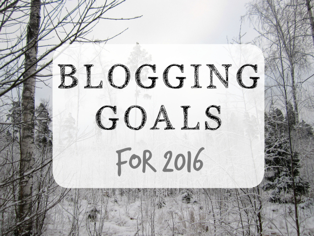 Yearly recap 2015 and 3 blogging goals for 2016.