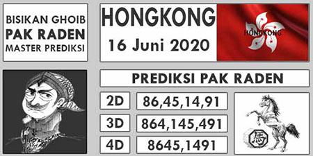Prediksi HK Selasa 16 Juni 2020 - Pak Raden