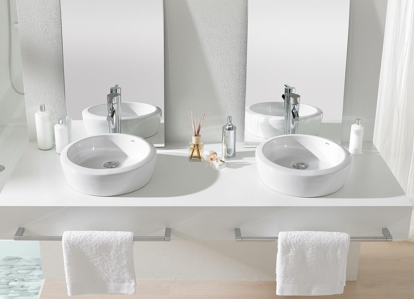 Azulejos alicatados y alicatadores lavabos sobre encimera - Lavabos rectangulares sobre encimera ...