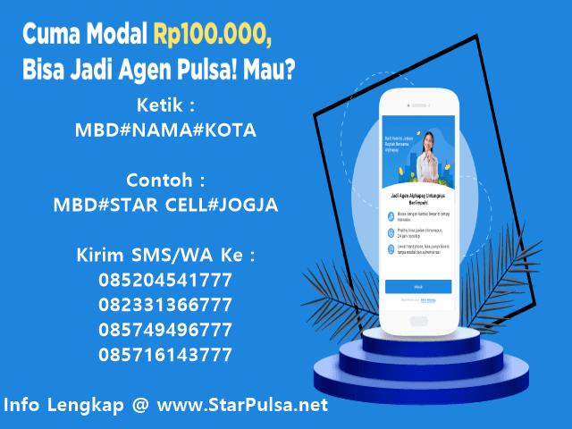 Ayo Daftar Menjadi Agen Pulsa Elektrik Murah All Operator Bersama StarPulsa.net CV Cahaya Multi Sinergi