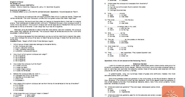 Contoh Soal Smp Kelas 7 Semester 2 - Berbagi Contoh Soal