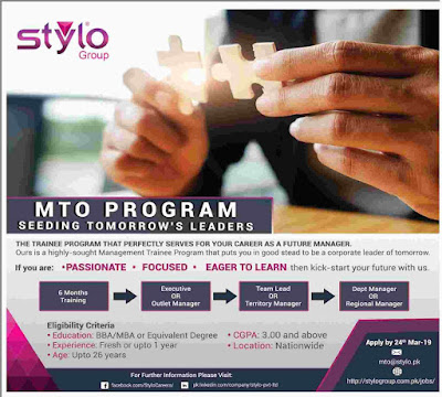 Stylo Management Trainee Program 2019 | Salary Package Rs.40,000/-