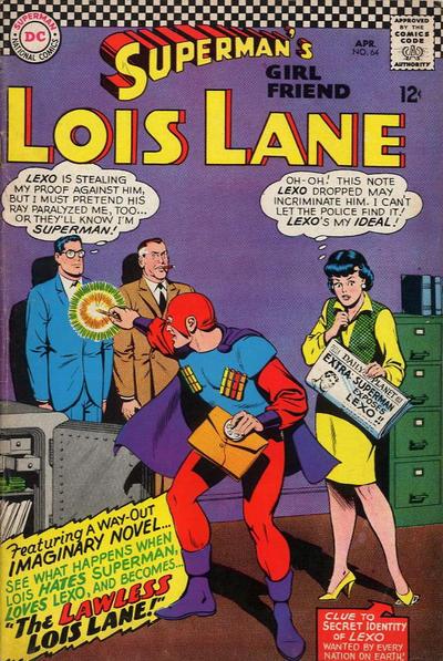 Episode #395 Part II: Superman Family Comic Book Cover Dated April 1966: Superman's Girl Friend Lois Lane #64!