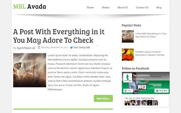 Avada Free Blogger Template