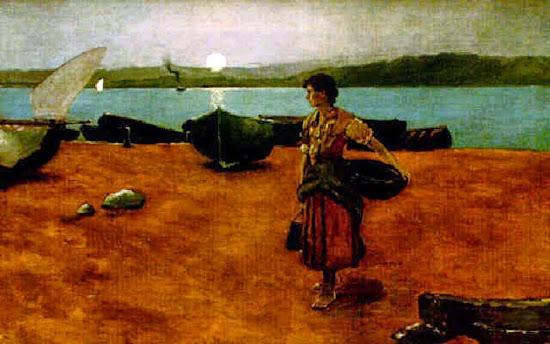 La Pacha, Juan Martínez Abades, Pintor español, Paisajes de Juan Martínez Abades, Pintor Martínez Abades, Pintores españoles, Pintores Asturianos, Martínez Abades