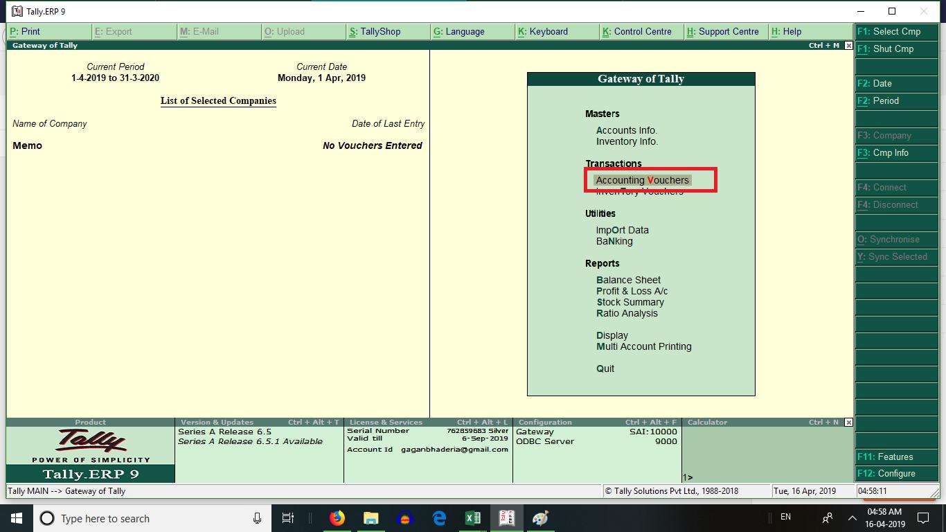 use of reversing journal voucher in tally erp 9