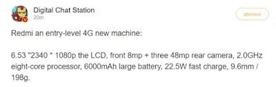 Spesifikasi Redmi Note 10 4G : Berharap Akan Segera Di Luncurkan