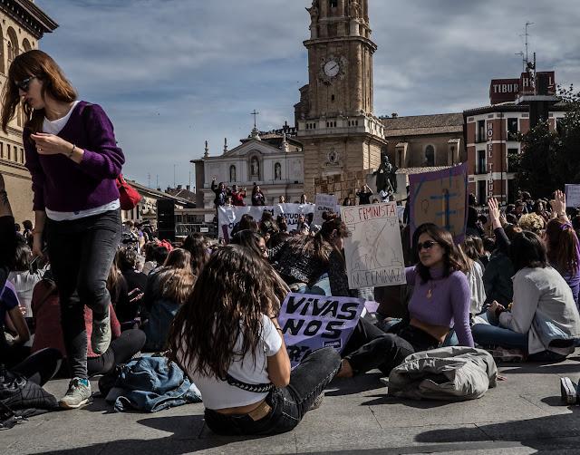 8m 2020 Zaragoza Feminista Manifestacion Estudiantes