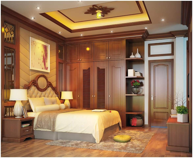 Chất liệu sàn gỗ tự nhiên nâng tầm nội thất phòng ngủ.