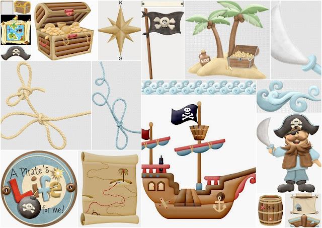 Clipart Jugando a los Piratas.
