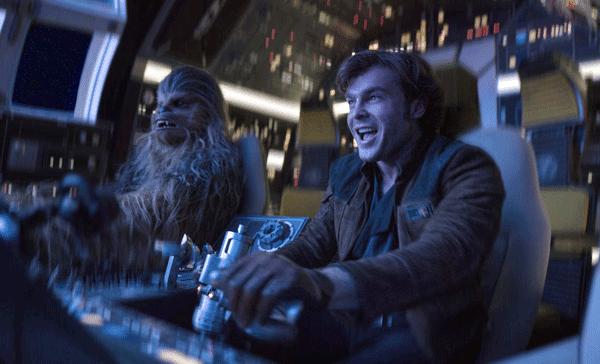 Han Solo (Alden Ehrenreich) and Chewbacca (Joonas Suotamo) in SOLO: A STAR WARS STORY (2018)