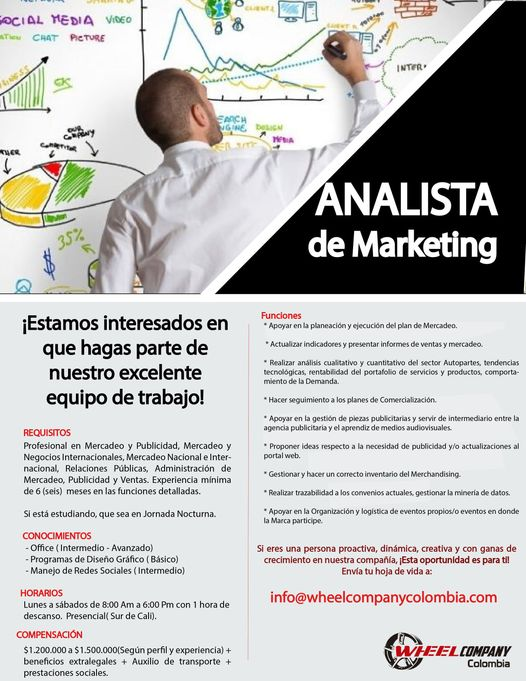 📂 Empleos en Cali Hoy como Analista de Marketing  💼 |▷ #Cali #SiHayEmpleo #Empleo