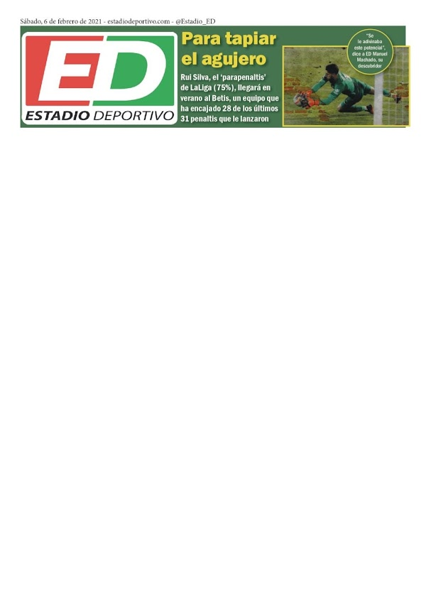 "Betis, Estadio Deportivo: ""Para tapiar el agujero"""